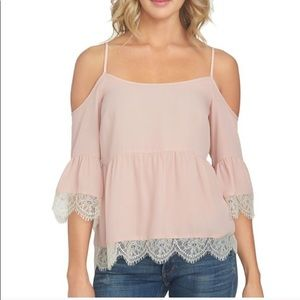 1. State Cold Shoulder Blouse | Size XS
